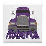 Trucker Roberta Tile Coaster