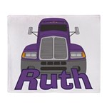 Trucker Ruth Throw Blanket