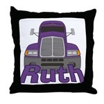 Trucker Ruth Throw Pillow
