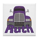 Trucker Ruth Tile Coaster