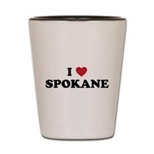 I Love Spokane Washington Shot Glass