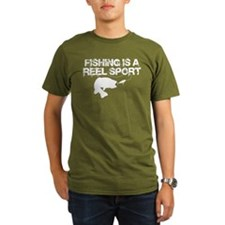 Fishing Is A Reel Sport Organic Men's T-Shirt (dk)