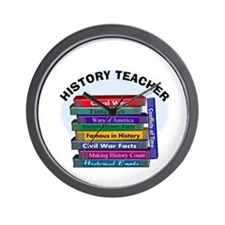 hISTORY TEACHER.PNG Wall Clock