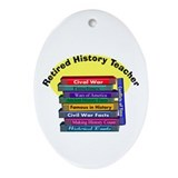 Retired History Teacher.PNG Ornament (Oval)
