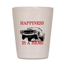 AFTMHappinessIsAHemi!.jpg Shot Glass
