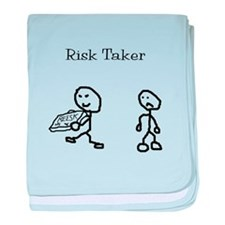 Risk Taker baby blanket