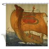 Viking ship Shower Curtains