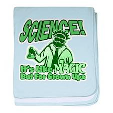 Science vs Magic baby blanket