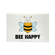 Bee Happy Rectangle Magnet (10 pack)