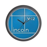 Vintage Lincoln V-12 emblem Wall Clock