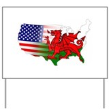 American Welsh Map Yard Sign