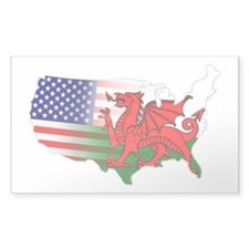 American Welsh Map Decal