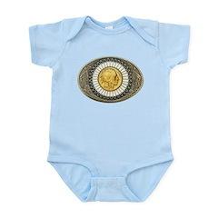 Indian gold oval 3 Infant Bodysuit
