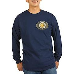 Indian gold oval 3 Long Sleeve Dark T-Shirt