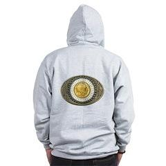 Indian gold oval 3 Zip Hoodie