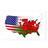 American Welsh Map Postcards (Package of 8)