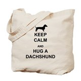Dachshund - Keep Calm and Hug a Dachshund Tote Bag