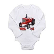 Funny Model a Long Sleeve Infant Bodysuit