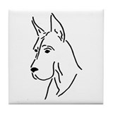 Great Dane, Tile Coaster