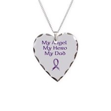 My Angel, My Hero, My Dad Necklace