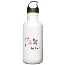 Hope Pass It On Pink Ribbon Water Bottle