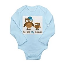 Big Cousin - Mod Owl Long Sleeve Infant Bodysuit