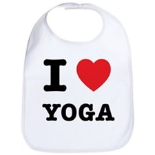 I Heart Yoga Bib