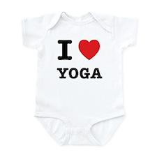 I Heart Yoga Infant Bodysuit