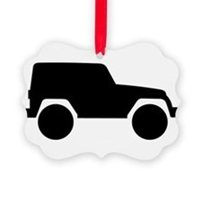 Jeep Outline Ornament