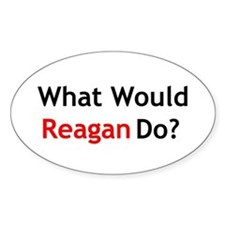 What Would Reagan Do? Oval Decal