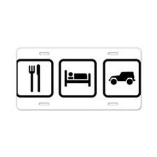 Eat Sleep Jeep Aluminum License Plate