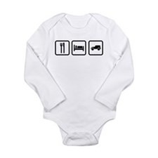 Eat Sleep Jeep Long Sleeve Infant Bodysuit