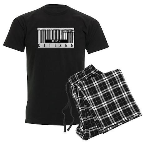 Rich Citizen Barcode, Men's Dark Pajamas