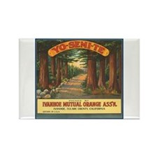 Yosemite Fruit Crate Label Rectangle Magnet