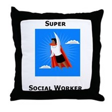 Cute Social work month Throw Pillow