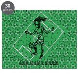 Personalized Soccer girl MOM design Puzzle