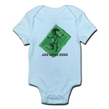 Personalized Soccer girl MOM design Infant Bodysui
