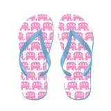Pink Republican Elephant Flip Flops