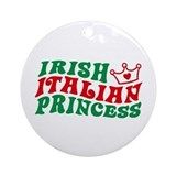 Irish Italian Princess Ornament (Round)