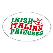Irish Italian Princess Oval Decal