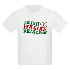Irish Italian Princess Kids T-Shirt
