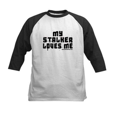 My Stalker Loves Me Kids Baseball Jersey