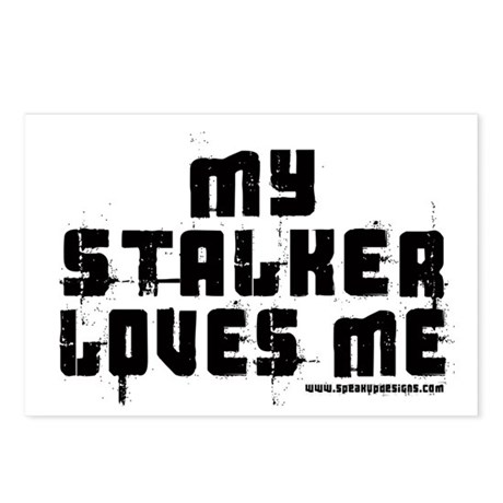 My Stalker Loves Me Postcards (Package of 8)