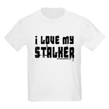 I Love My Stalker Kids T-Shirt