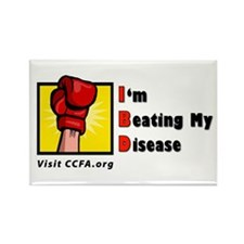 I'm Beating My Disease Rectangle Magnet (100 pack)