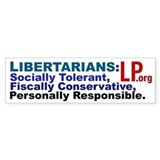 Tolerant & Responsible Bumper Car Sticker