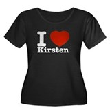 I Love Kirsten Women's Plus Size Scoop Neck Dark T