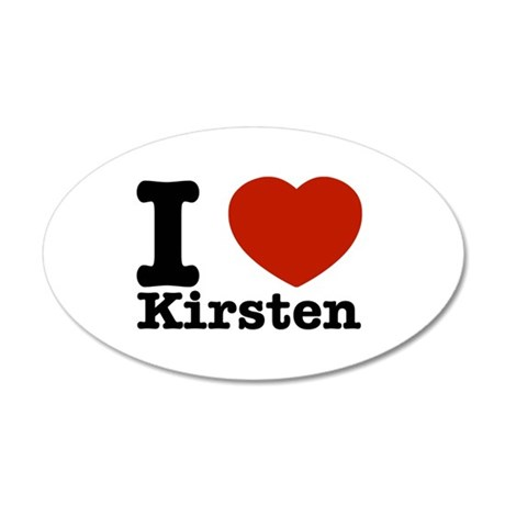 I Love Kirsten 20x12 Oval Wall Decal