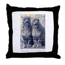 Cute Snow leopard cub Throw Pillow