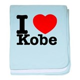 I Love Kobe baby blanket